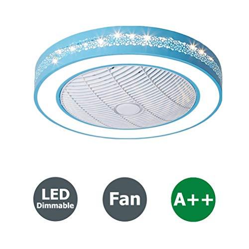 HXBHModerne LED-Deckenleuchte mit Fernbedienung, regelbarer Deckenventilator mit Fernbedienung