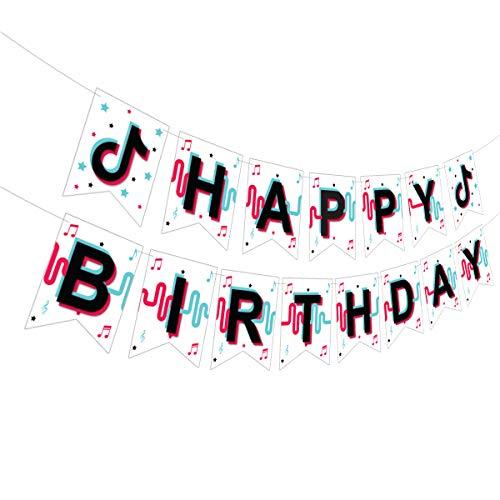 Disco Music Birthday Banner, Music Birthday Theme Party Supplies, Disco Music Birthday Party Decoration