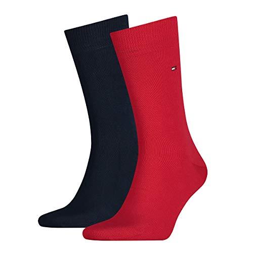 Tommy Hilfiger Herren Business Socken, Classic, 6er Pack (Rot/Schwarz, 39-42)