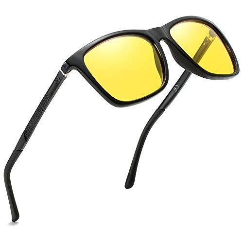 KEECOW Nachtsichtbrille Autofahren für Männer und Frauen (Schwarz-Nachtsichtbrille)