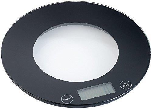 Rosenstein & Söhne Feinwaage: Digitale Küchenwaage aus Glas mit Touch-Buttons (Küchewaage)