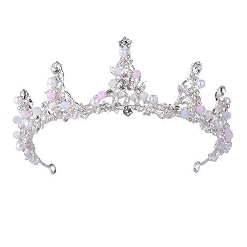 Lurrose corona de novia cristal flor tiara vid perlas vintage corona de...