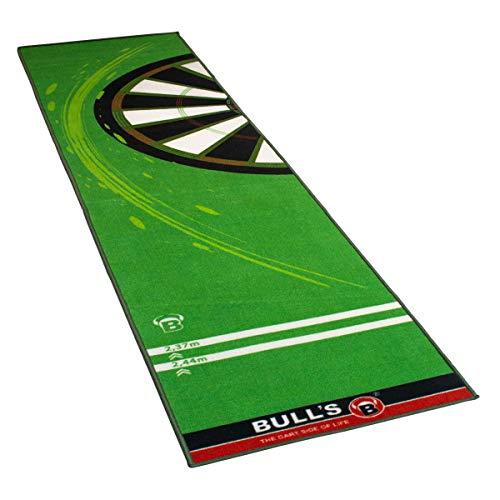 """BULL'S Carpet Mat """"140"""" Red, Dartteppich mit rutschfester Unterseite aus Gummi, umweltfreundliche Turnier Dartmatte mit offiziellem Abstand zum Dartboard 237cm, Schutz für Darts und Tips, 280 x 80cm"""