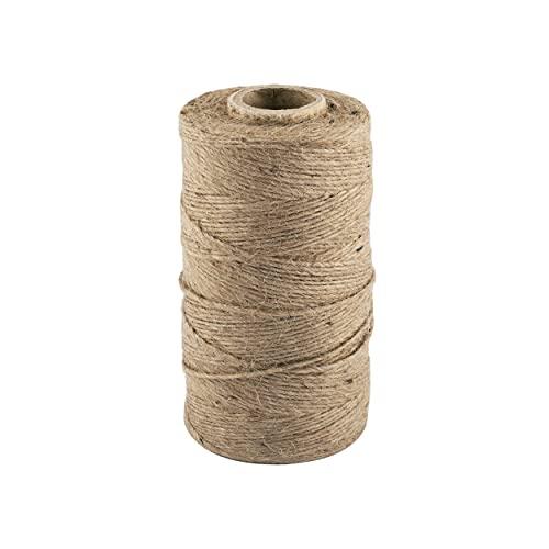 D.RECT corda in juta | rotolo da 250m, 1,2mm | Cordone juta | prodotto naturale per: la casa,...