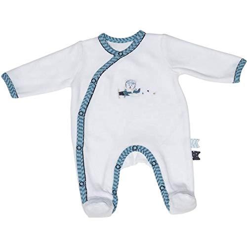 Pyjama bébé blanc ours 3 mois Lazare - Sauthon