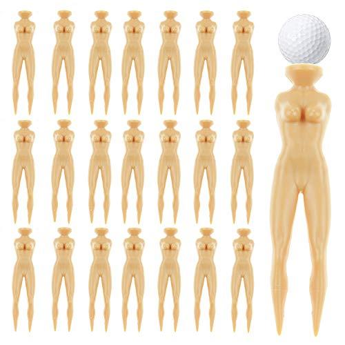 Fantasyon 40 Pcs 3 Inch Plastic Golf Tees, Novelty Nude Lady Golf Tees Lady Tees Woman Golf Tees Nude Golf Tees for Golf Training