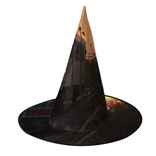 Disfraz de Halloween Sombrero de Bruja Tren Viejo Que se reunir al Atardecer Tapas de Mago con Luces Accesorio de Disfraces para Cosplay Fiesta de Halloween