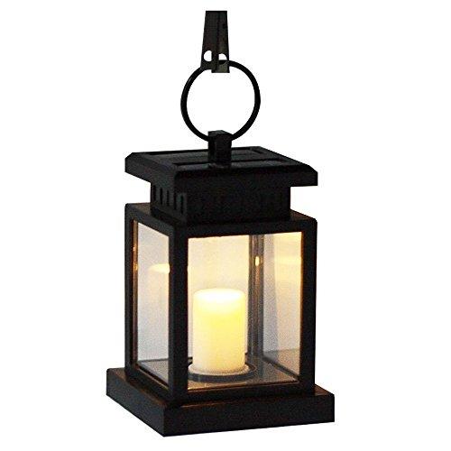 MIANBAOSHU Lámpara LED solar, romántica, lámpara de seguridad, resistente a la intemperie, con velas, para decoración de jardín, terraza, senderos, balcón, piscina, escaleras.
