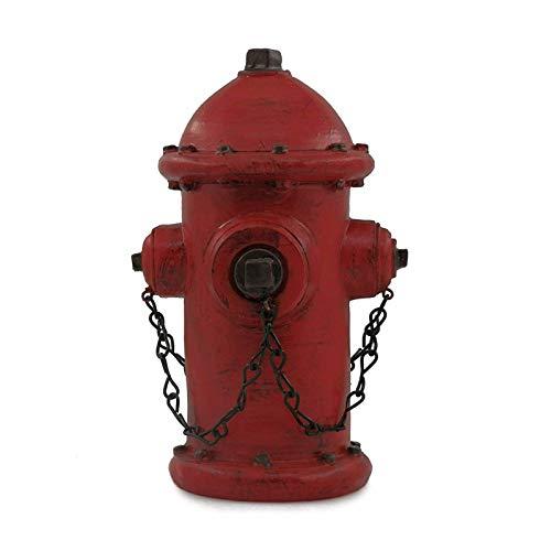 ornerx Resin Fire Hydrant Statue Decor 6' Tall - Small