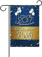 フラッグ 卒業式やパーティーの記念を祝う夏の日おめでとう卒業卒業シーズンバルーンガーデンフラッグバナー屋外ホームガーデン植木鉢の装飾のための 30 x 45cm