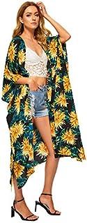 SweatyRocks Women's Flowy Kimono Cardigan Open Front Maxi...