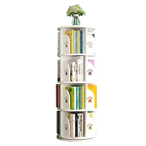 Librerie Girevole Bambini Regolabile in Altezza Stimola l'interesse dei Bambini per la Lettura Assembla Il reggilibro (Color : Bianca, Size : 50.5 * 128cm)