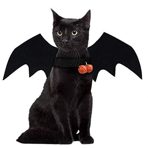 HIGHKAS Halloween Pet Dress Up Kleine Hund Fledermausflügel Dress Up Lustige Katze Kostüm Fledermausflügel Dress Up Terror Kürbis Bell Cat Kostüme für Haustiere