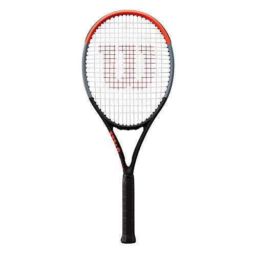 Wilson Tennisschläger, Clash 100UL, Unisex, Erwachsene, Griffgröße: 4 1/8, Graphit, schwarz/grau/rot, WR015810U1