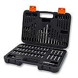 Terratek® 246-teiliges Profi Bohrer-Set & Koffer - mit Schrauberbits, HSS-Bohrern, Steinbohrern, Holzbohrern, Flachbohrern, Steckschlüsseleinsätzen uvm