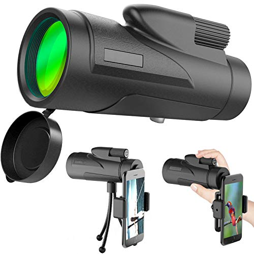 12X50 Monocular Telescope for Smartphone and Adult with High Power Mini Telescope Scope -BAK4 Prism FMC for Bird Watching Hunting Camping Travelling Wildlife Secenery(12x50-1)