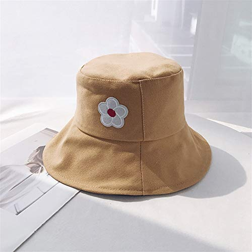 ZHOUYUFAN Japanse minimalistische bloempotten hoed zonnehoed wind HyunA HyunA literaire mooie zachte zus zomer zonnehoed Eén maat Aarde geel