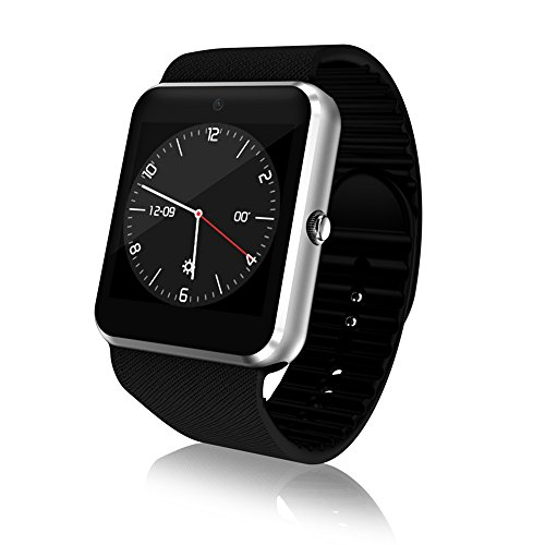 YANGFH Smart Watch QW09 3G Anruf Mobile Payment Android System WiFi Mode Foto Schritte Bewegung Smartwatch (Color : Silver)