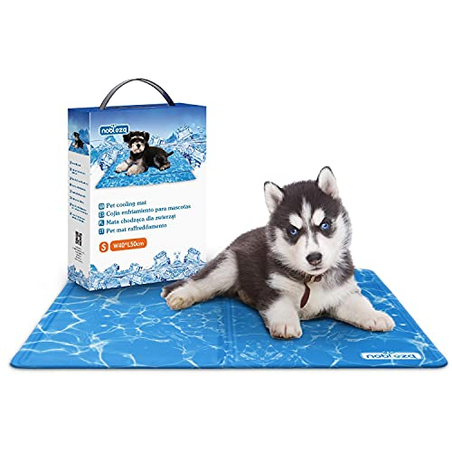 Nobleza – Alfombrilla refrescante para Mascotas Grandes. Auto refrigerante No tóxico. Ideal para para Perros, Gatos en Verano. 50 * 40 cm, Color Azul, S