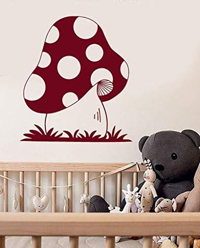 Leuke Vinyl Muursticker Paddestoel Bos Kwekerij Kinderkamer Stickers Muurstickers voor Baby Slaapkamer Art muurschildering raamdecoratie 42 * 47Cm