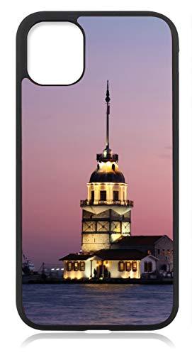 Kompatibel mit Samsung Galaxy S21 Hülle Silikon Dünn, Handyhülle für Samsung Galxy S21 5G Schutzhülle Case Schwarz Türkei Türkiye Fahne Flagge