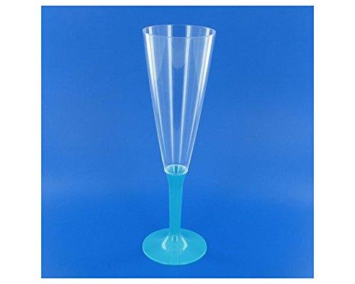 Dragée d'amour Sachet de 10 flûtes à Champagne certifiées réutilisables (Turquoise)