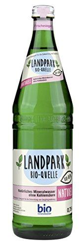 LANDPARK – BIO Mineralwasser – Naturell – Natriumarm – 0,75 Liter – Glas Mehrweg