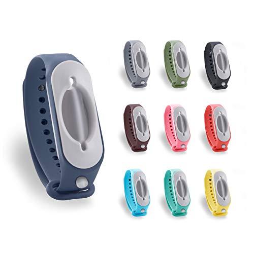 Cleanbrace Desinfektionsarmband 2.0 - Armband für Desinfektionsmittel - Handdesinfektion Unterwegs (Olivgrün)