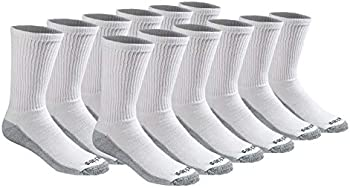 12-Pairs Dickies Men's Dri-tech Moisture Control Crew Socks
