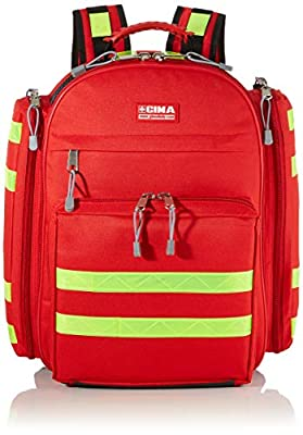 Gima - Logic 1 Rusksack, Backpack, Polyester, Red Colour, Medium Size, Dimensions 40x20x47 cm, for Rescuers, Trauma Doctors, Paramedics, First Aid and Civil Protection Professionals by Gima S.p.A.