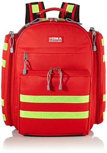 """GIMA ref 27170 Mochila""""Logic 1"""" para emergencias sanitarias, poliéster, 40 x 20 x h 47 cm, roja, maleta de primeros auxilios, transportable, con compartimientos internos y externos"""
