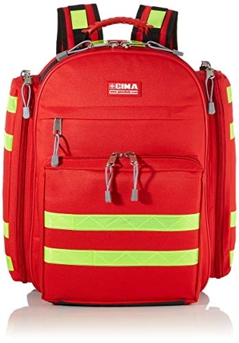 Gima - Logic 1 Rusksack, Backpack, Polyester, Red Colour, Medium Size, Dimensions 40x20x47 cm, for Rescuers, Trauma Doctors, Paramedics, First Aid and Civil Protection Professionals