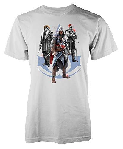Assassins Creed Character GamingAdult Kids Unisex T Shirt White