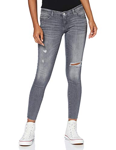 ONLY Damen ONYCORAL Life SL SK ANK RAW AZ443 Jeans, Grey Denim, 28/32