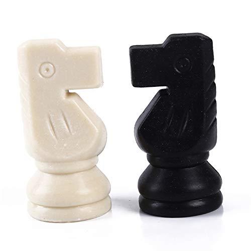 Kaned Plástico Piezas de Ajedrez Juguete 81mm Altura Rey Adultos Niños Juego de Ajedrez No Tablero