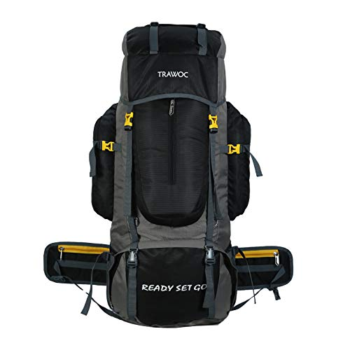 TRAWOC 75L Travel Backpack for Outdoor Sport Camp Hiking Trekking Bag Camping Rucksack BHK001 1 Year Warranty