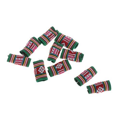 MERIGLARE 10 Sortes Colorées Dreadlock Perles Anneaux De Cheveux Tresses Bracelet Pendentifs Charmes - 01