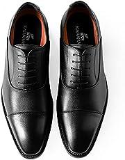 [Kararao] ビジネスシューズ メンズ ビジネス 紳士靴 撥水 軽量 ストレートチップ 内羽根 フォーマル 通勤