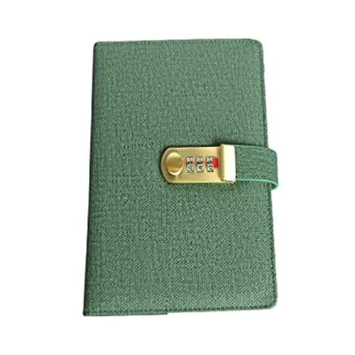 LYUN quaderni Notebook Portatile Password Diario Pure Color Fashion personalità Mini Blocco Note Multifunzione con Disegno di Blocco taccuino (Color : Green~Thickening)