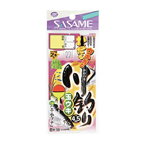 ささめ針(SASAME) W-720 川釣リ玉ウキ 4号