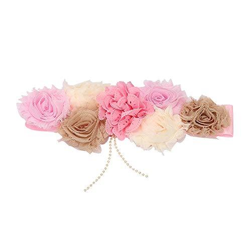 Moederschapssjerp met bloemen voor fotoshooting zwangerschap bruidsjurk jurk riem #04