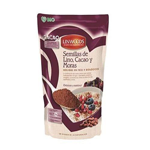 El Granero Semillas de Lino con Cacao y Moras Linwoods, 200 G, Pack de 1