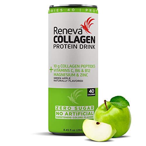 Reneva Collagen Protein Drink 12x250ml (Green Apple)