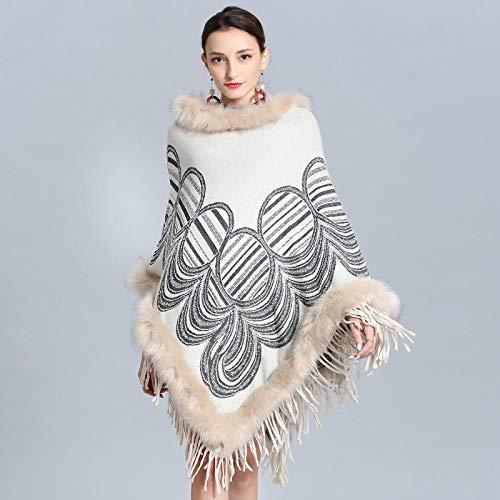 Xiaobei Winter Frauen Yangtze River Delta Plus Größe runden Pullover Schal Strickschal Umhang Schal lose Pullover Umhänge für Frauen-06_Einheitsgröße