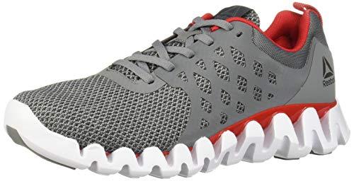 Reebok Zig Pulse 3.0 - Zapatillas de correr para hombre, Gris (Gris/rojo/blanco/plateado.), 41 EU