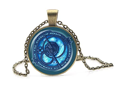 PA RC - Vintage Amulet Trollhunters Pendant Necklace Toys Jewelry Bronze Color Chain for Childrends Women Men Gifts