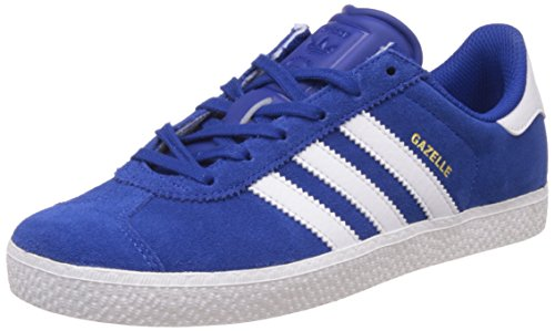 adidas Unisex-Kinder Gazelle 2 J Low-Top, Blau (Collegiate Royal/FTWR White/FTWR White), 38 EU