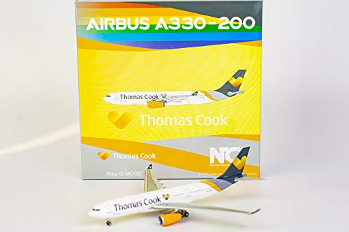 NG Model NGM61012 1:400 Thomas Cook Airbus A330-200 Reg #G-MDBD with Sunny Hearts Decal (pre-Painted/pre-Built)