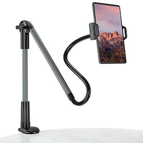 Tsryrlr Lazy - Soporte de tablet con cuello de cisne para iPad Pro Air Mini, Samsung Tab, teléfono móvil, conmutador y otros dispositivos de 4,7 a 10,5 pulgadas