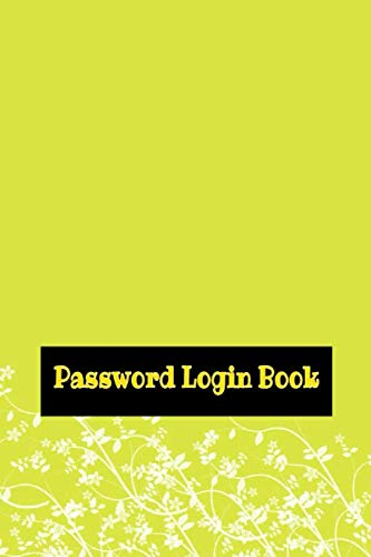 Price comparison product image Password And Login Book: Password Book Organizer Large Print Size 6 X 9 INCH ~ Note - Cover Tabs ~ Glossy Cover Design Cream Paper Sheet 110 Pages Fast Print.
